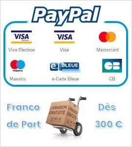 FRANCO DE PORT dès 300 € en France Métropolitaine